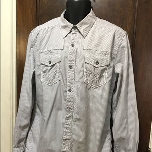 BKE athletic Sz Large long sleeves button up shirt